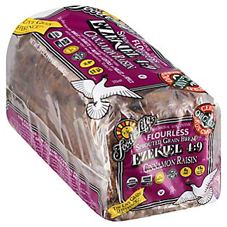 Food For Life Ezekiel 4:9 Sprouted 100% Whole Grain Cinnamon Raisin Bread, 24 oz