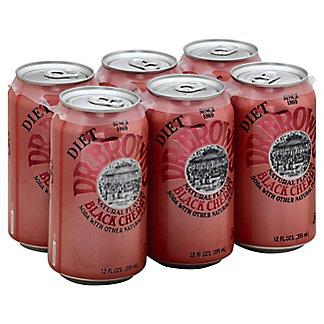 Dr Brown's Diet Black Cherry Soda, 6 pk