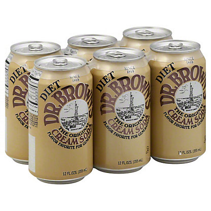 Dr Brown's Diet Cream Soda,6 pk