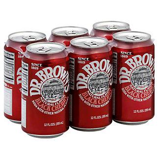 Dr. Brown's Black Cherry Soda,6 pk