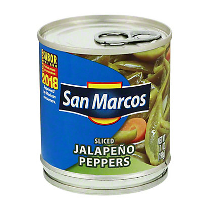 San Marcos Sliced Jalapeno Peppers,7 OZ