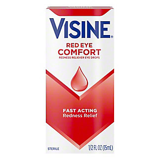 Visine Original Redness Reliever Eye Drops, 0.5 oz