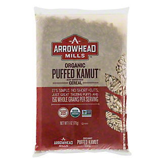 Arrowhead Mills Whole Grain Organic Puffed Kamut Cereal,6 OZ