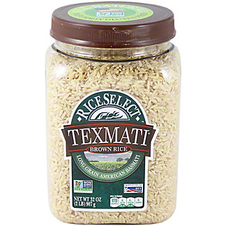 RICE SELECT Texmati Long Grain American Basmati Brown Rice, 32 OZ