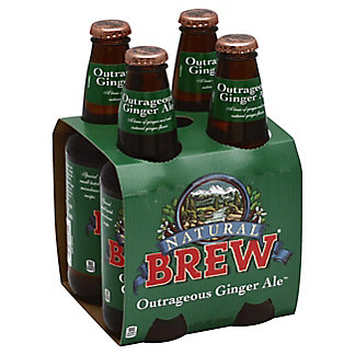 Natural Brew Outrageous Ginger Ale 12 oz Bottles, 4 pk