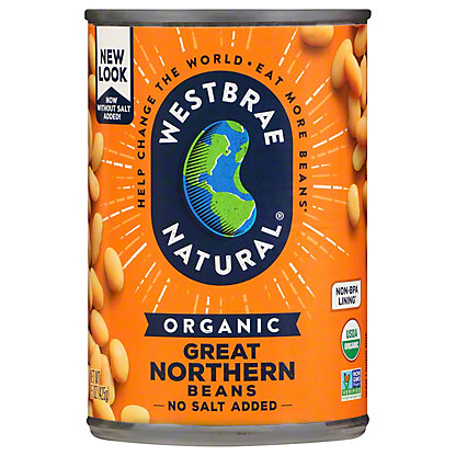 Westbrae Natural Organic Great Northern Beans, 15 oz
