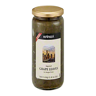 Krinos Imported Grape Leaves in Vinegar Brine,16 OZ