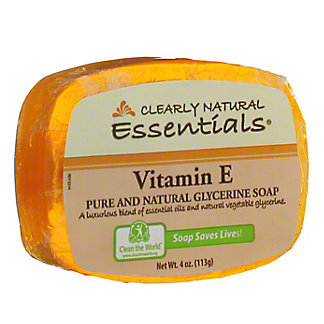 Clearly Natural Vitamin E Pure and Natural Glycerine Soap,4 OZ