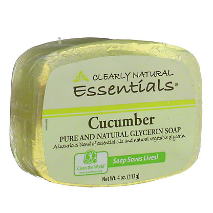 Clearly Natural Cucumber Pure and Natural Glycerine Soap,4 OZ