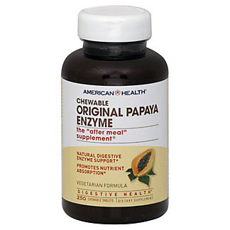 American Health Original Papaya Enzyme Vegetarian Formula Chewable Tablets, 250 ct
