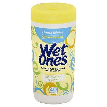 Wet Ones Antibacterial Citrus Scent Hand Wipes, 40 ct