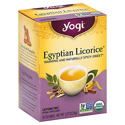 Yogi Yogi Egyptian Licorice Caffeine Free Tea Bags,16 ct