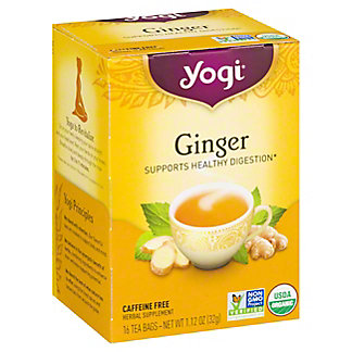 Yogi Yogi Organic Ginger Caffeine Free Tea Bags,16 ct