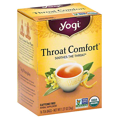 Yogi Throat Comfort Caffeine Free Tea Bags,16 ct