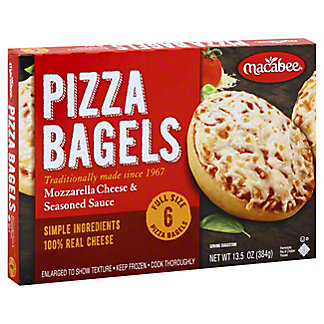 Macabee Cheese Bagel Pizzas, 6 ct