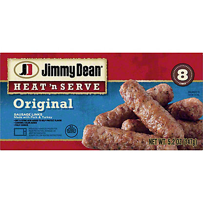 Jimmy Dean Heat 'N Serve Fully Cooked Regular Sausage Links,8.00 ea