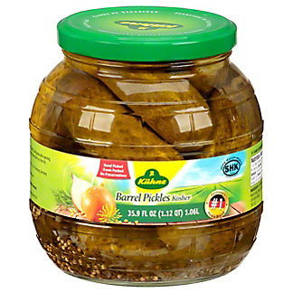 Kuhne Barrel Gherkins Pickles, 35.9 oz