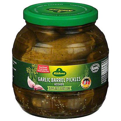 Kuhne Garlic Barrel Pickles,35.9 OZ