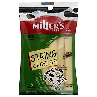 Miller's Cheese Mozzarella String Cheese,6 CT