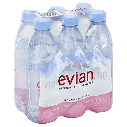 Evian Natural Spring Water 6 PK, 0.5 L