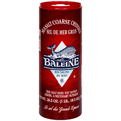 La Baleine Sea Salt Coarse Crystals,26.5 OZ