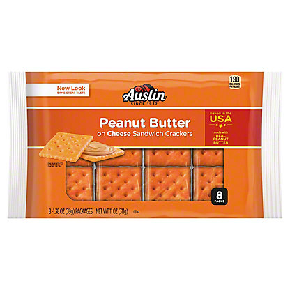 Austin Cheese Crackers with Peanut Butter,8 CT