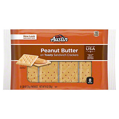 Austin Toasty Crackers with Peanut Butter,8 CT