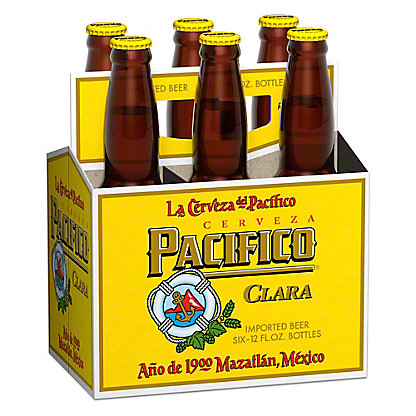 Pacifico Clara Beer 6 PK Bottles,12 OZ