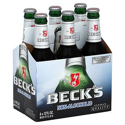 Beck's Non-Alcoholic Beer 6 PK Bottles,12 OZ