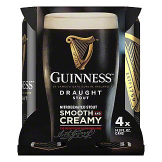 Guinness Draught,4 - 14.9oz Cans
