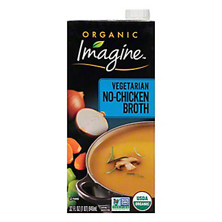 Imagine Natural Creations Organic No Chicken Broth, 32 OZ