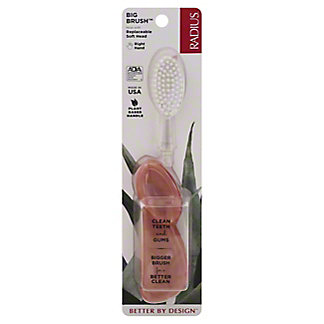 Radius The Original Toothbrush (Right Handed) - Colors May Vary, EACH