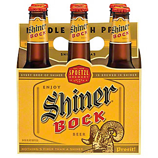 Shiner Bock Beer 6 PK Bottles, 12 oz