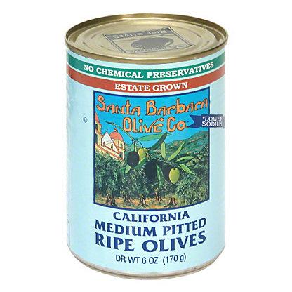Santa Barbara California Medium Pitted Ripe Black Olives,6 OZ