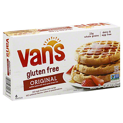 Van's Wheat and Gluten Free Totally Natural Waffles, 6 ct