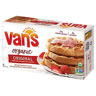 Van's Organic Whole Grain Waffles,6 CT