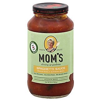 Mom's Fresh Garlic and Basil Spaghetti Sauce, 24 oz