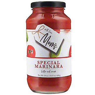 Mom's Tomato Basil and Butter Special Marinara Pasta Sauce, 24 oz
