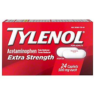 Tylenol Extra Strength 500 mg Caplets, 24 ct
