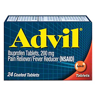 Advil Pain Reliever/Fever Reducer Ibuprofen 200 mg Coated Tablets, 24 ct