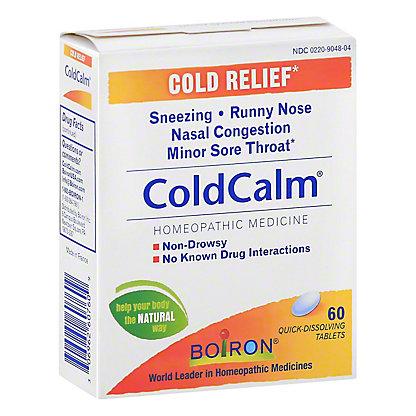 Boiron Coldcalm Quick Dissolving Tablets, 60 ct