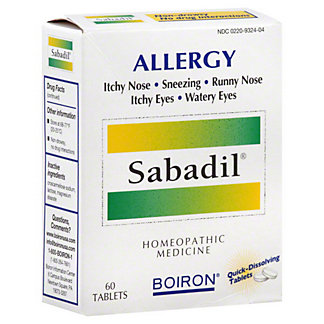Boiron Sabadil/Allergies Tablets,60 CNT