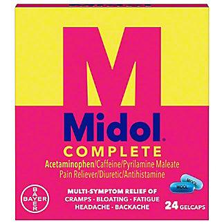Midol Complete Maximum Strength Multi-Symptom Relief Gelcaps, 24 ct