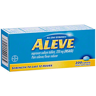 Aleve Pain Reliever/Fever Reducer Naproxen 220 mg Caplets, 200 ct