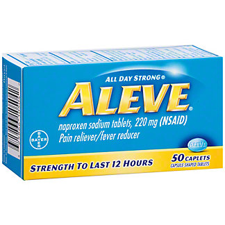 Aleve Pain Reliever/Fever Reducer Naproxen 220 mg Caplets, 50 ct