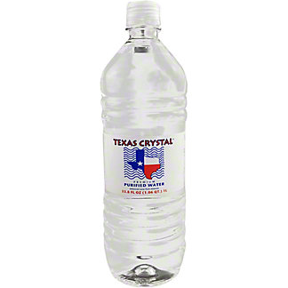 Texas Crystal Purified Water, 33.8 OZ