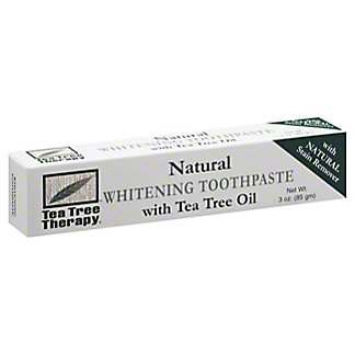 Tea Tree Therapy Natural Whitening Toothpaste with Tea Tree Oil,3 OZ