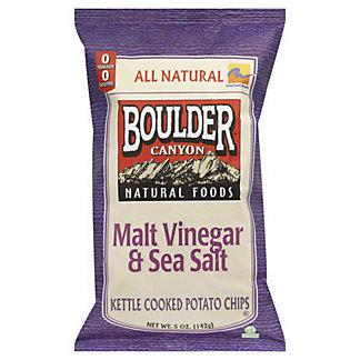Boulder Canyon Malt Vinegar & Sea Salt Potato Chips,5 oz