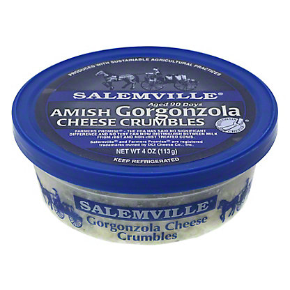 Salemville Amish Gorgonzola Cheese Crumbles,4 OZ