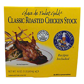 More than Gourmet Glace De Poulet Gold Classic Roasted Chicken Stock, 16 OZ